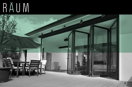 black bifold doors from raum