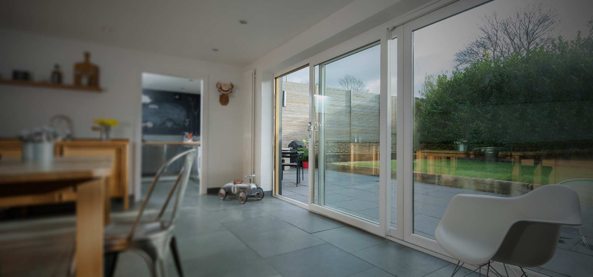 uPVC sliding patio door manufactured using the Deceuninck Slider24 window profile