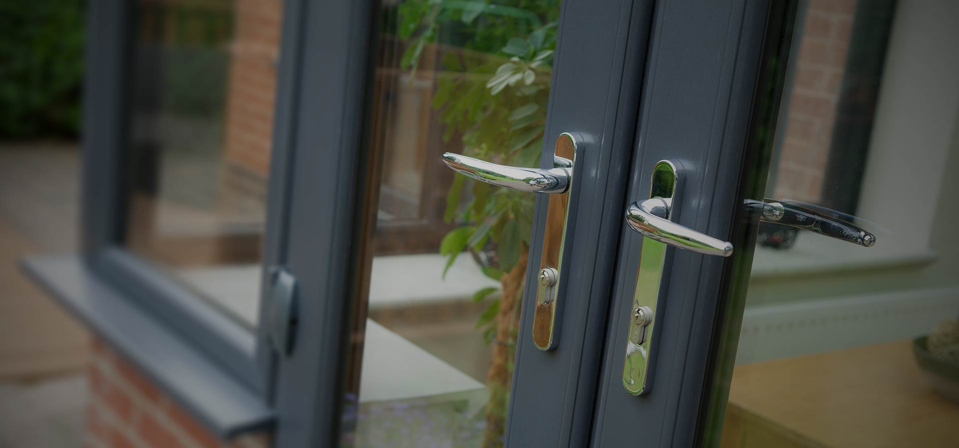 Anthracite colour upvc french doors