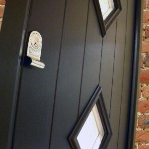 Black solidor composite door