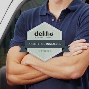Dekko registered installer badge