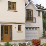 Glazed garage door for new build property