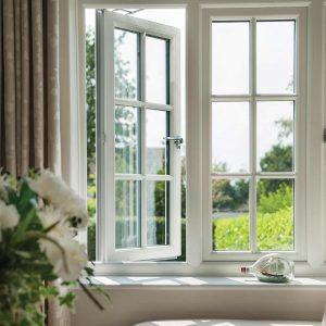 white window installed on a more traditional property