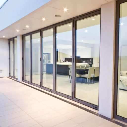 Premium aluminium bifolding door installed for modern new-build project