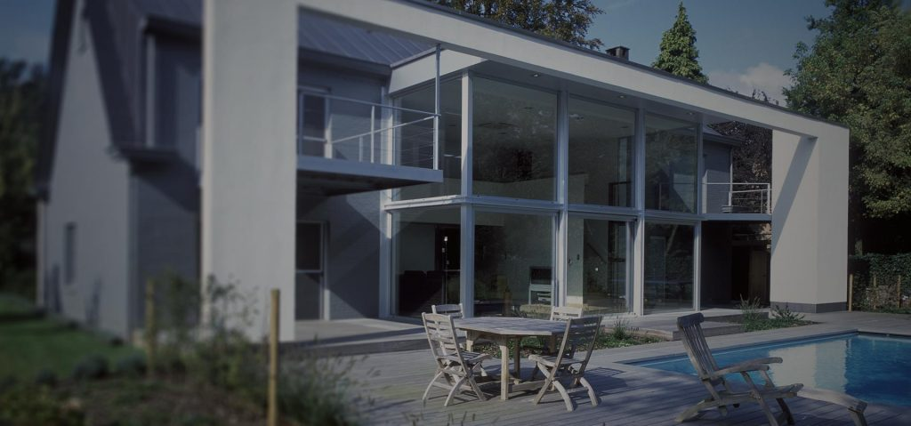 A large new build project with Raum aluminium windows that span a wide area