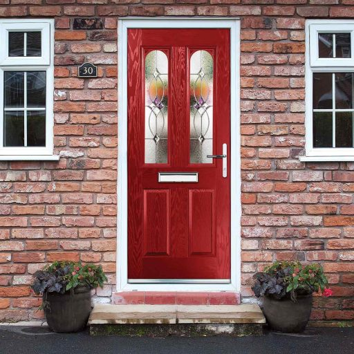 Composite residential entrance door supplied
