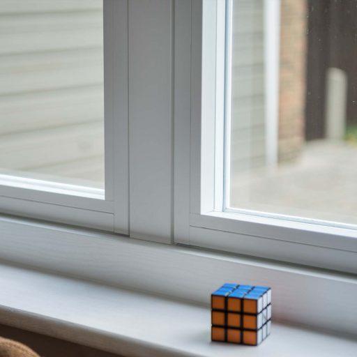 Square shape aesthetics of the Residence 2 uPVC window