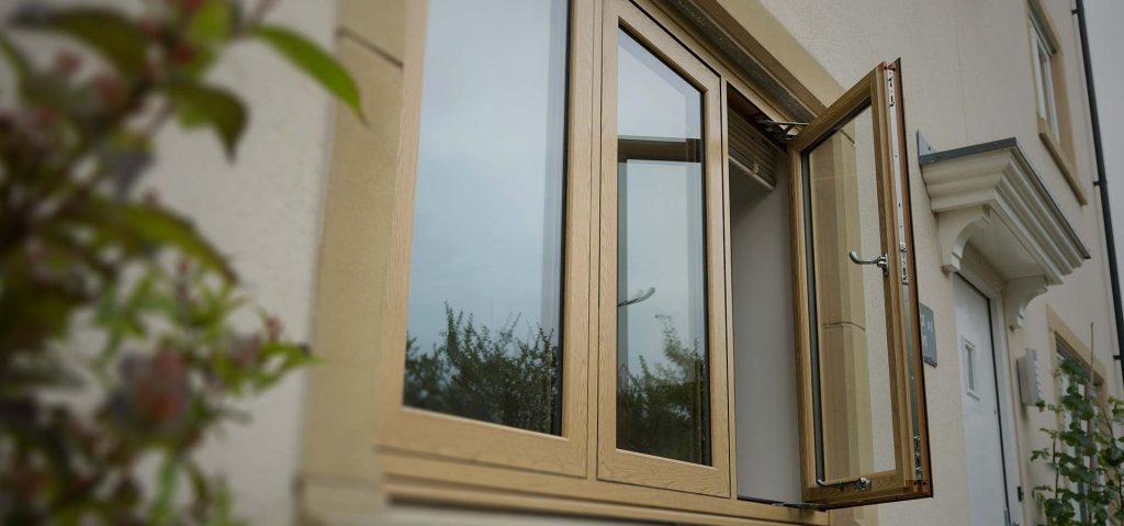 uPVC infinity window with smooth seamless weld