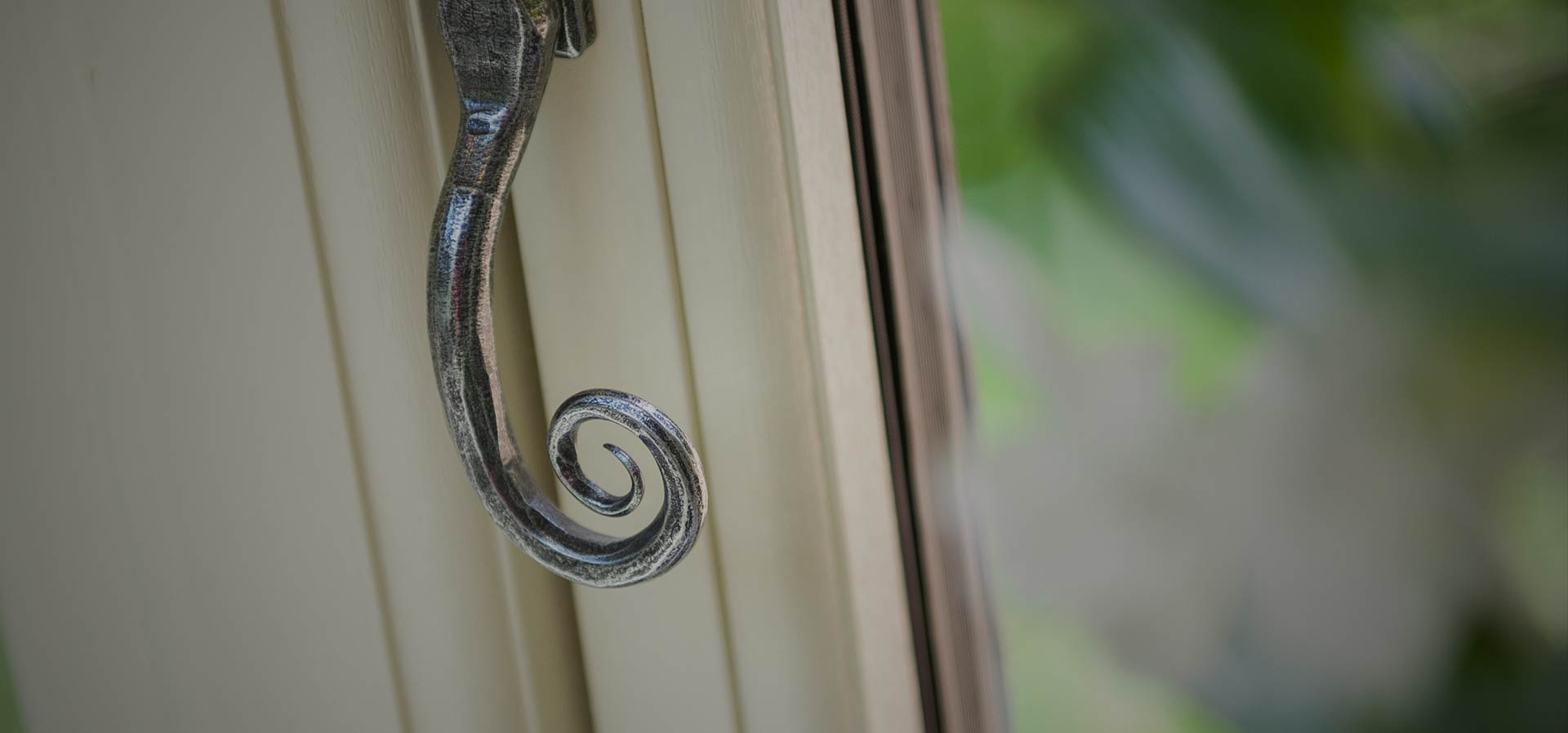 Residence 9 upvc window with monkey tail handle