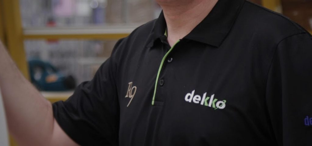 A member of the Dekko team at one of our trade counters