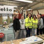 women in window factory